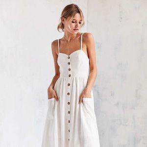 Cooperativ A line Emilia dress in cream/white